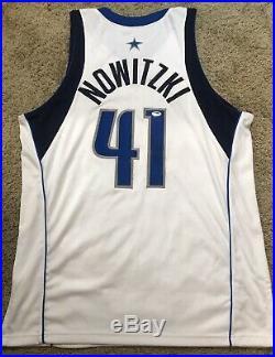 Dirk Nowitzki Dallas Mavericks Game Used Worn Pro Cut Autographed PSA/DNA Jersey
