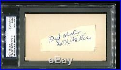 Don Miller Signed Cut 3x5 Autographed Rare Four Horsemen Notre Dame PSA/DNA 799