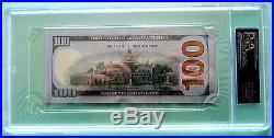 Donald Trump Hand Signed Crisp One Hundred Dollar Bill! -psa/dna Authenticated