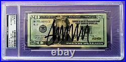 Donald Trump Hand Signed Crisp Twenty Dollar ($20) Bill Psa/dna Authenticated
