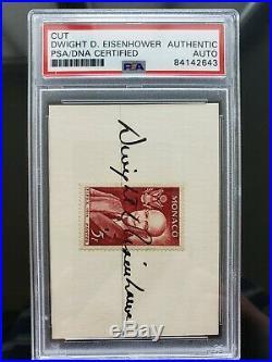 Dwight D. Eisenhower Signature / Autograph Psa/dna Authentic