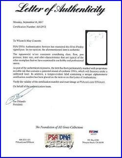 ELVIS PRESLEY Autograph Signed Vegas Club card PSA/DNA Pricilla 10x13 signed
