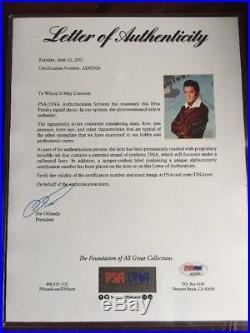 ELVIS PRESLEY Signed Autographed RCA Records Photo PSA/DNA Letter