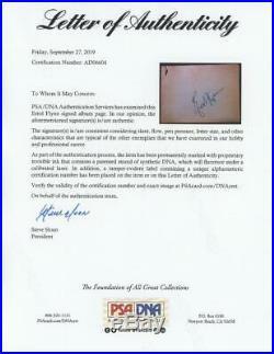 ERROL FLYNN (1909-1959) signed album page Robin Hood Autograph PSA/DNA LOA