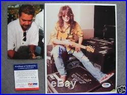 Eddie Van Halen Rare! Signed autographed 8x10 photo PSA/DNA PROOF
