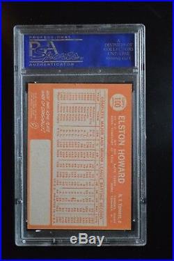 Elston Howard 1964 Topps #100 PSA/DNA Signed NM7