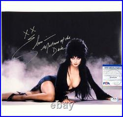 Elvira Mistress of the Dark autograph signed 11x14 Photo PSA/DNA Witness COA