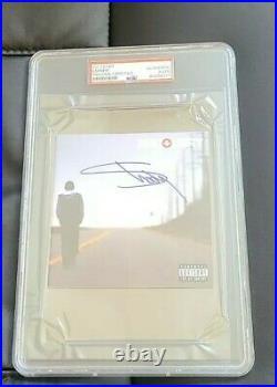 Eminem Signed Recovery CD Cover Slim Shady Psa/dna Certed #84268217 Slabbed Case