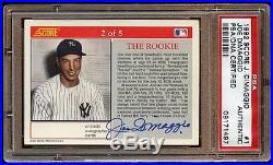 Error 1/1 Joe Dimaggio 1992 Score The Rookie Auto Psa/dna Rare Missing # 1/1
