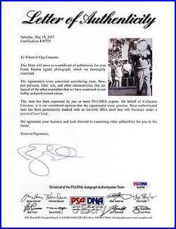 FRANK SINATRA Hand Signed, Framed 8x10 Full Photo PSA/DNA LOA UACC #RD289