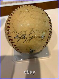 First All Star Game 1933 Autographed Baseball with Babe Ruth, Lou Gehrig PSA/DNA