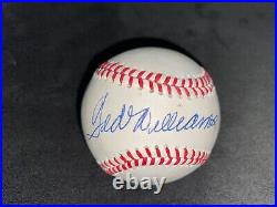 Flawless Ted Williams Autographed Signed Official AL Baseball PSA/DNA Red Sox