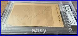 Frank Sinatra Dean Martin Sammy Davis Lawford RAT PACK Signed Autograph PSA/DNA