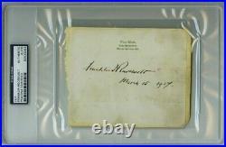 Franklin Roosevelt President Signed Autograph Psa Dna Authentic