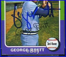 GEORGE BRETT Autographed 1975 Topps Mini Rookie RC #228 HOF PSA DNA 7 HIGHEST