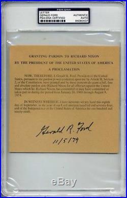 GERALD R. FORD Signed Pardon Of RICHARD NIXON-ENCAPSULATED. PSA/DNA#84080437