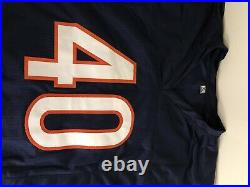 Gale Sayers Autographed Custom Navy Blue Jersey PSA/DNA COA Chicago Bears HOF