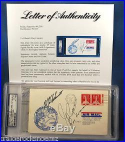 Gene Cernan Harrison Schmitt Ron Evans Signed FDC Autograph Apollo 17 PSA/DNA