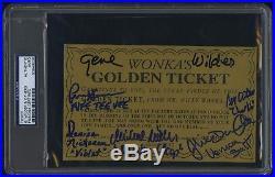 Gene Wilder Signed Willy Wonka Golden Ticket Psa Dna Denise Nickerson Rare