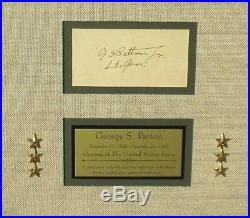 General George Patton WWII U. S Army Commander Autograph Display PSADNA Authentic