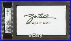 George W. Bush signed cut signature PSA DNA
