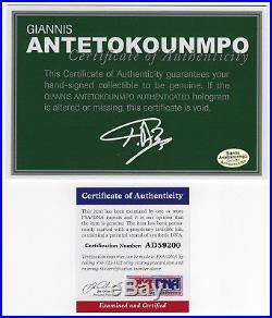 Giannis Antetokounmpo signed Milwaukee Bucks autographed 8x10 auto photo PSA/DNA