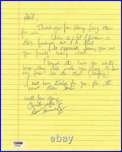 Gino Hernandez wrestling WCCW signed autograph letter PSA DNA JSA (wwf wwe) rare