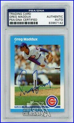 Greg Maddux 1987 Fleer Autographed Card PSA/DNA