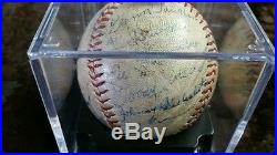 HONUS WAGNER Autographed PSA DNA 1936 Pirates Team SIGNED BASEBALL 4 HOF