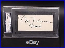 Hand Signed President Bill Clinton Autograph (psa/dna Verified Signature)