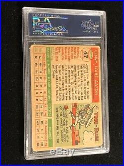 Hank Aaron Signed 1955 Topps Card #47 PSA DNA Milwaukee Braves Autograph
