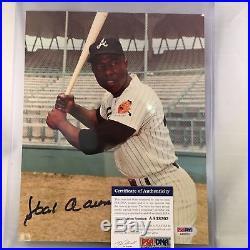 Hank Aaron Signed Autographed 8x10 Photo Picture PSA DNA COA