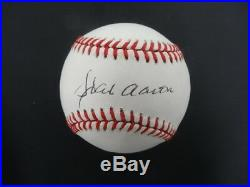 Hank Aaron Signed Baseball Autograph Auto PSA/DNA AC82346