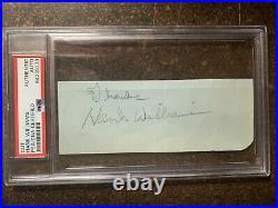 Hank Williams Sr. Signature Autographed PSA DNA Encapsulated