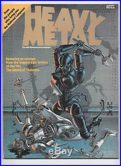 Heavy Metal Magazine #1 April 1977 Signed Moebius'86 PSA/DNA Authentic Z09135