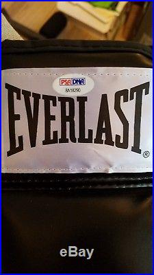 Iron Mike Tyson autographed black Everlast glove PSA/DNA