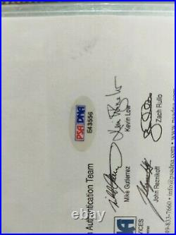JACKIE ROBINSON Autograph Cut Signature PSA/DNA CERTIFIED STRONG SIG, BOLD