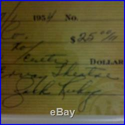 Jack Ruby Signed Autograph Check PSA/DNA Mint 9