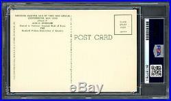 Jackie Robinson Autographed Signed HOF Plaque Postcard Dodgers PSA/DNA 84187784