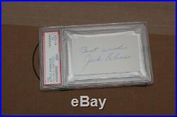 Jackie Robinson Cut Autographed Psa/dna