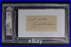 Jackie Robinson (d. 1972) Dodgers Autographed 3x5 Cut Signature PSA/DNA