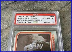 James Earl Jones Darth Vader Hoth Signed 1980 Topps Star Wars Psa/dna Slabbed