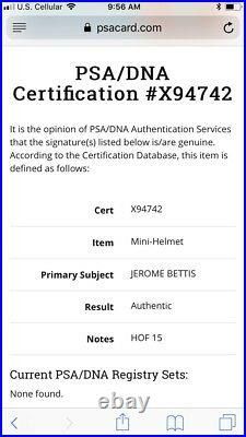 Jerome Bettis Autographed Pittsburgh Steelers Mini Helmet PSA/DNA