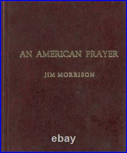 Jim Morrison The Doors Signed An American Prayer Extremely Rare Poetry Book PSA