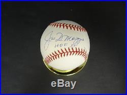 Joe DiMaggio (HOF 55) Signed Baseball Autograph Auto PSA/DNA 1A36510