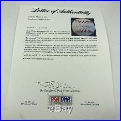 Joe DiMaggio Signed Autographed Official American League Baseball PSA DNA COA