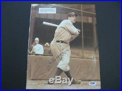 Joe DiMaggio Yankees 10x12 Cut Autographed Auto PSA/DNA S00111