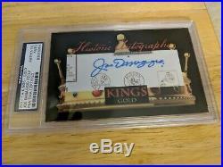Joe Dimaggio AUTO 2017 HA Historic Autograph Kings Gold 22/22 PSA/DNA CERTIFIED