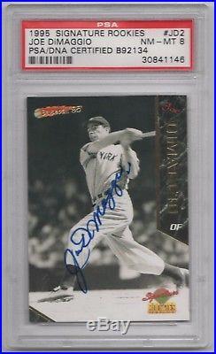 Joe Dimaggio Psa/dna Certified Signed 1995 Signature Rookies Card #jd2 Autograph