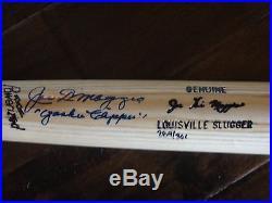 Joe Dimaggio Yankee Clipper Psa/dna Signed Louisville Slugger Bat Autographed